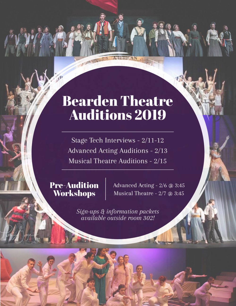 Click here to find all audition information. - Break a leg!