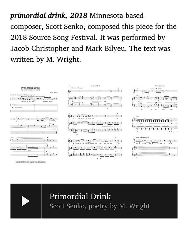 I wrote a poem for my wife and a Minnesota based composer made it into something really special ✨