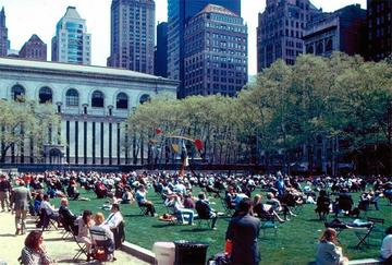 Bryant Park in NYC, after Whyte's alterations (via PPS.org).