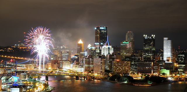 Pittsburgh's Skyline (Image via PPS and cory.cousins via Flickr)