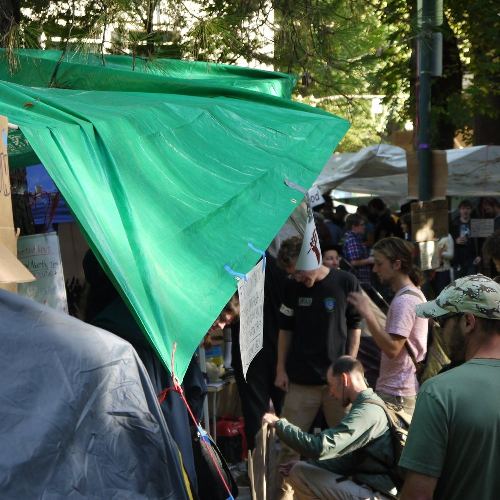 Occupy Portland site, October 2011