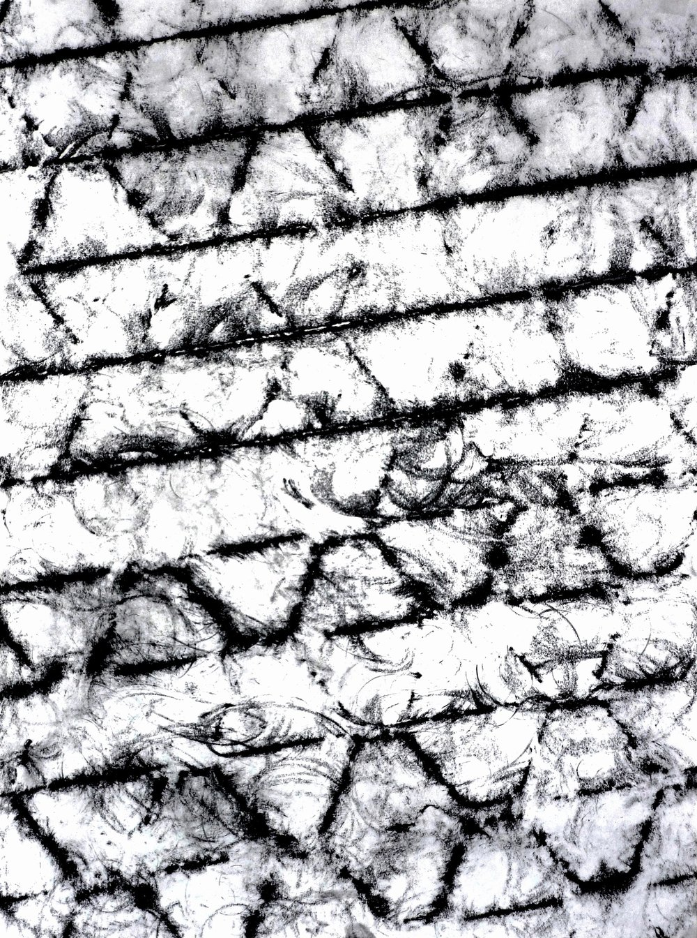 Space, Surface and Texture Investigations, Water Drain, 24 in. x 30 in., charcoal and graphite, 2010