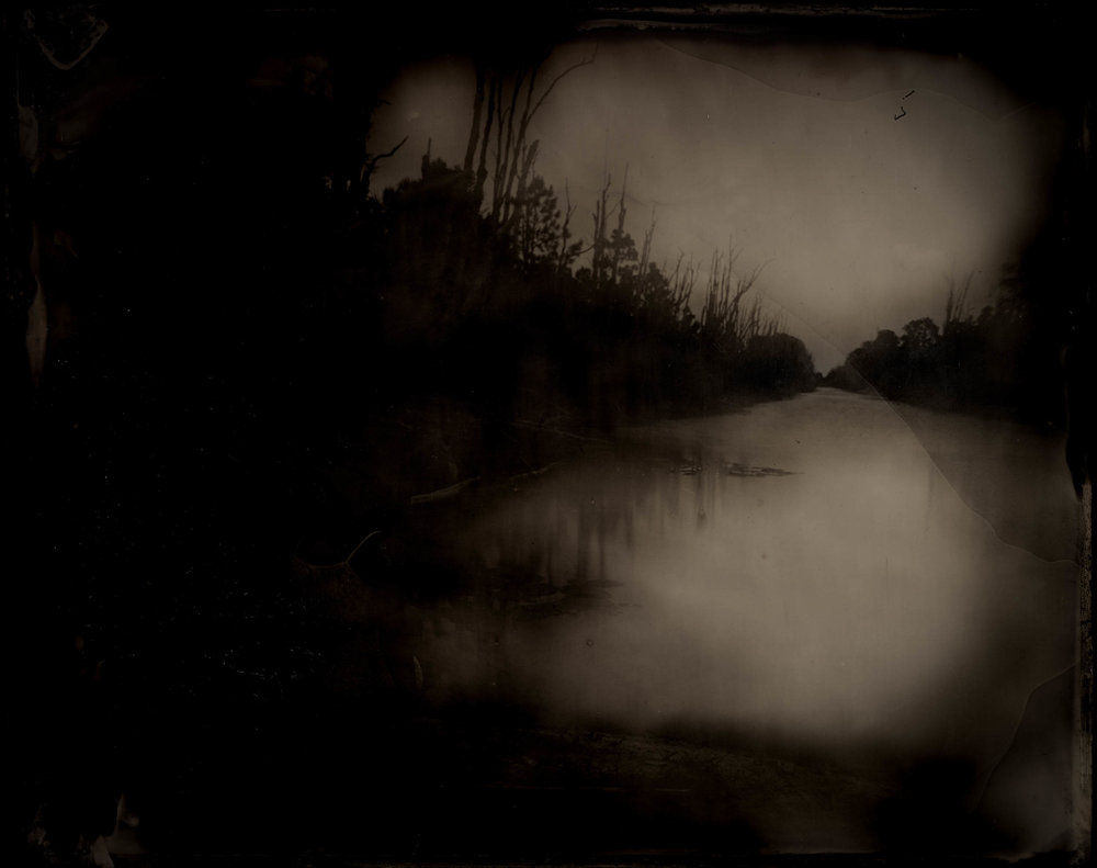 Anna At The Water, ambrotype original, archival pigment print, 50 in. x 40 in., 2018