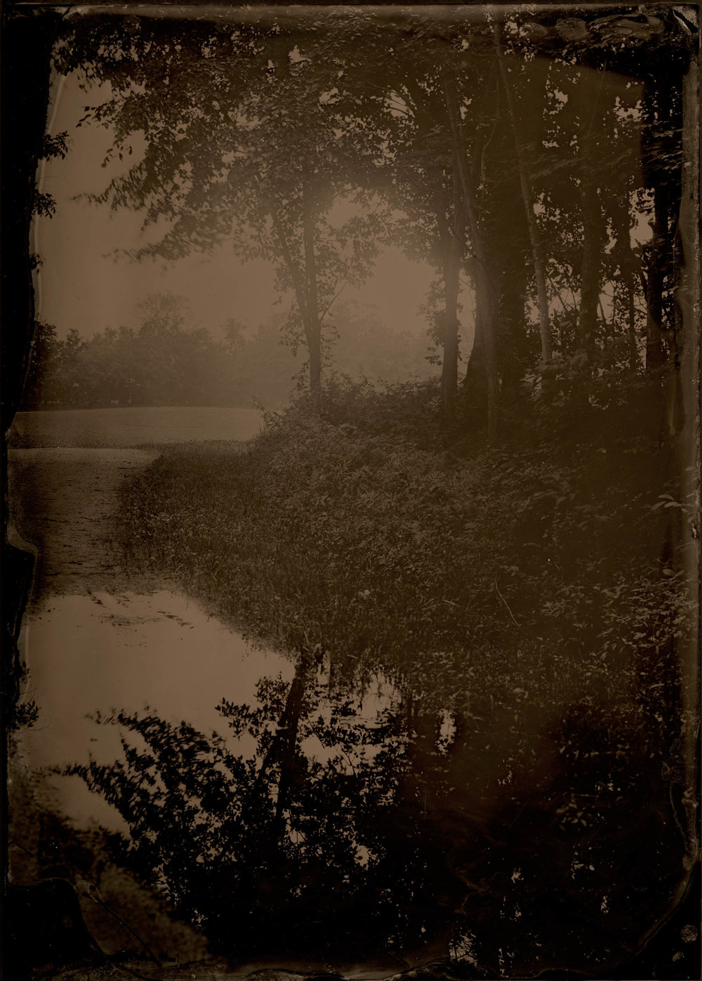 Mud Puddle, ambrotype original, archival pigment print, 40 in. x 50 in., 2018