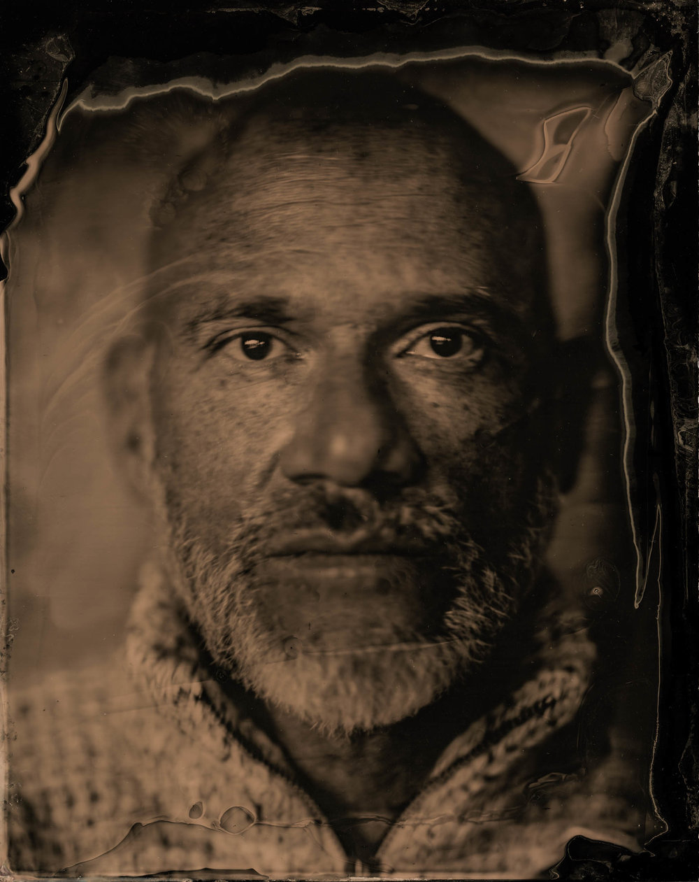 The Faces of Many, ambrotype original, archival pigment print, 40 in. x 50 in., 2018