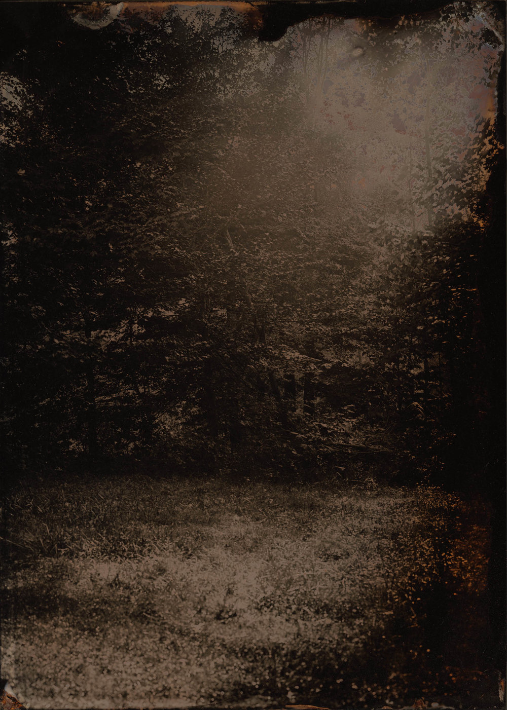 Materia Oscura, ambrotype original, archival pigment print, 40 in.x 50 in., 2019