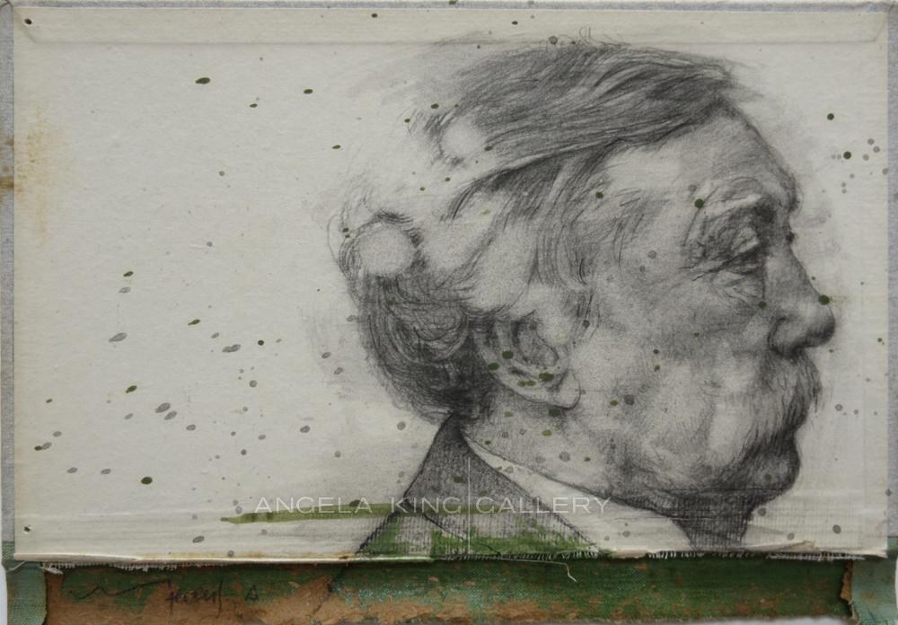 Older Man Pencil Drawing