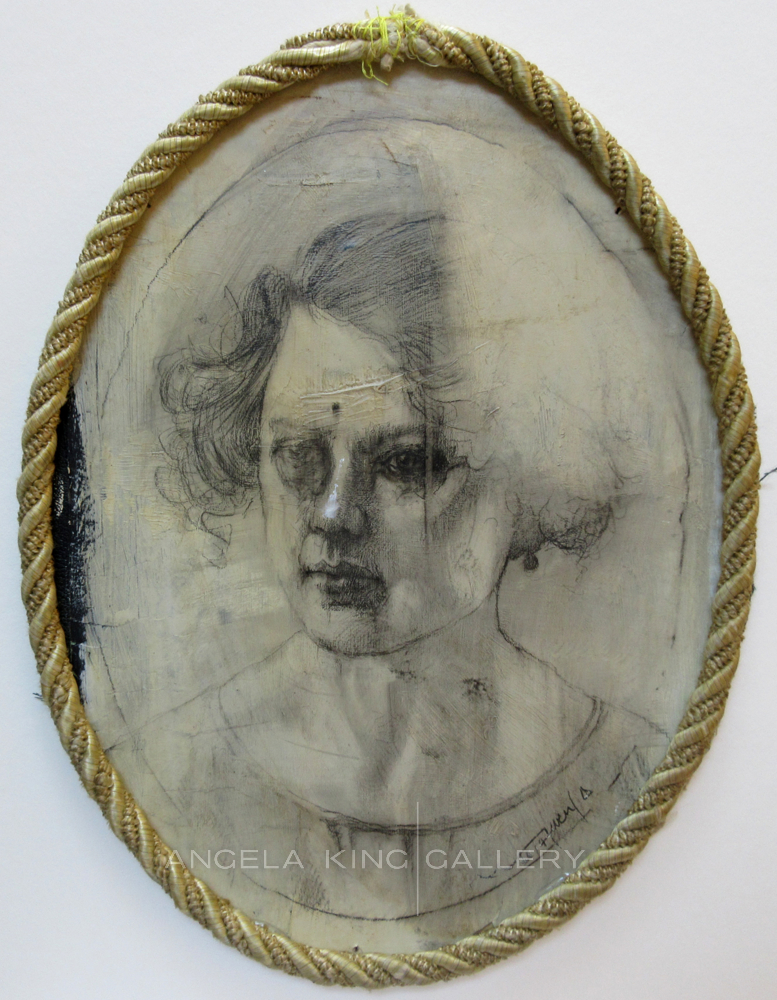 Lady in Oval Rope Frame