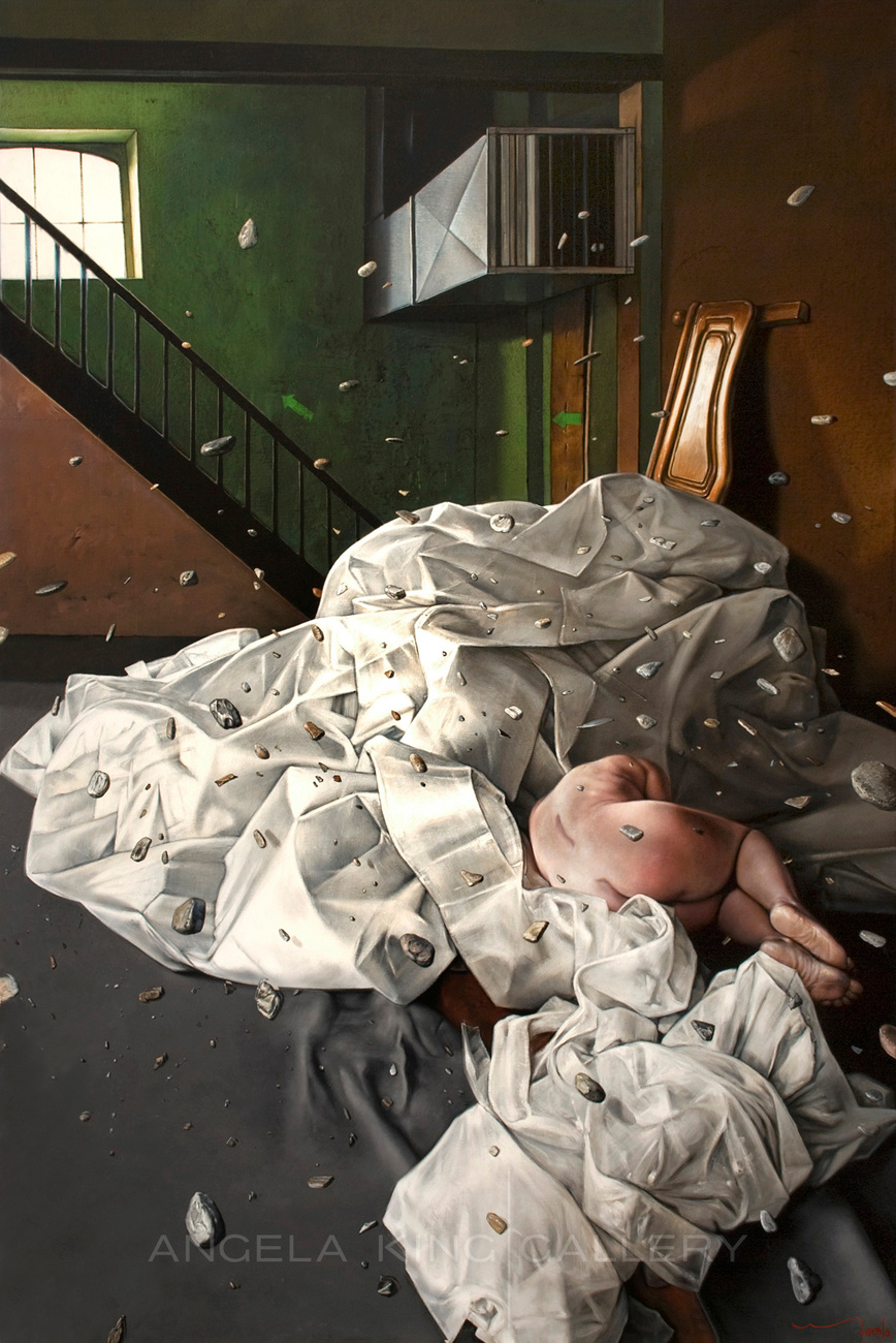 Reconstruction of an Emotion III by Eddy Stevens. Oil on canvas.