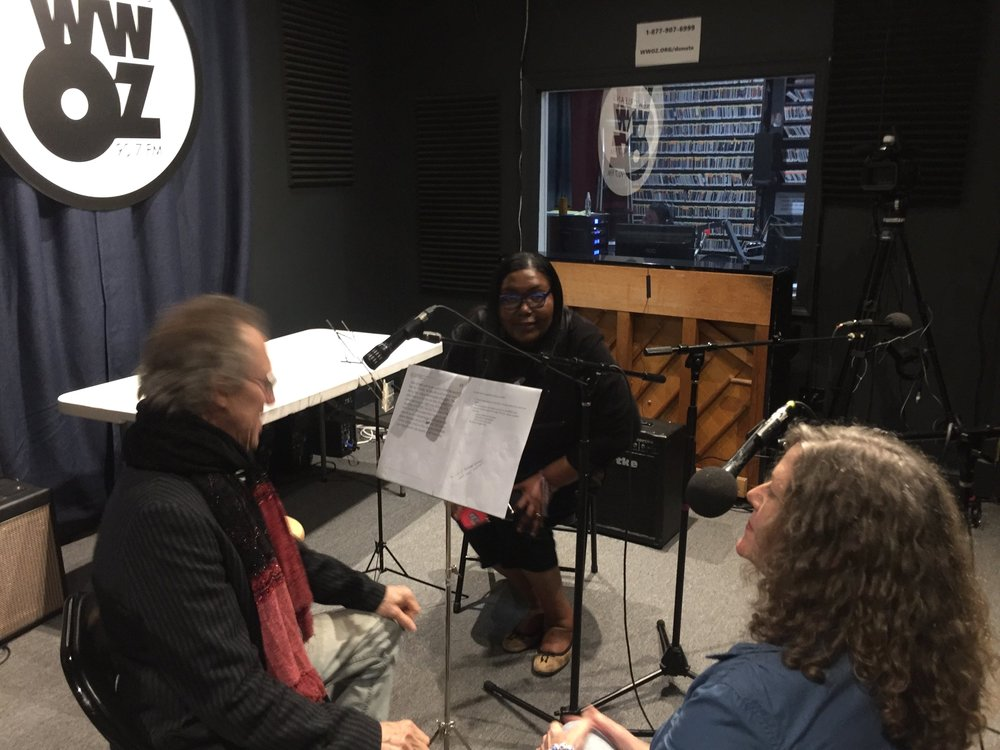 Povey and Schultz interview on WWOZ, New Orleans - Jazz from the French Market with Maryse DejeanPovey and Schultz are featured guests, discussing art, life, the creative process as an artistic duo, and armchair philosophy.