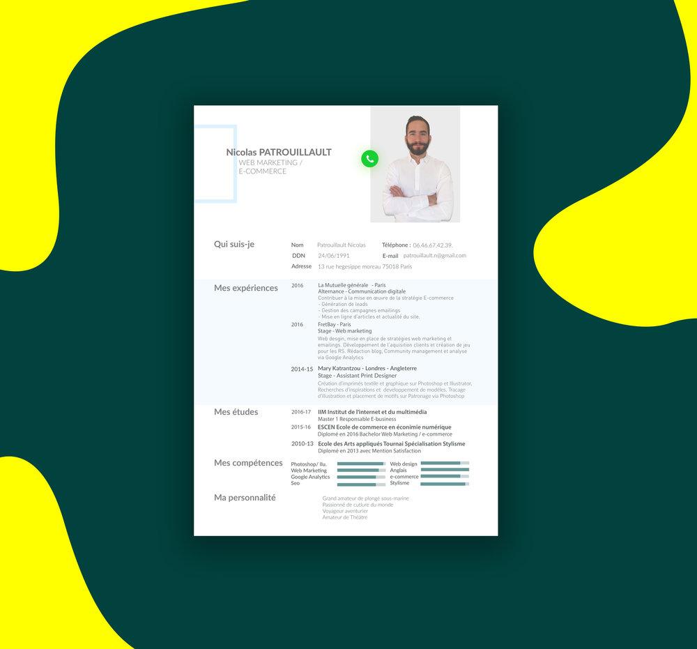 CV ecommerce mode