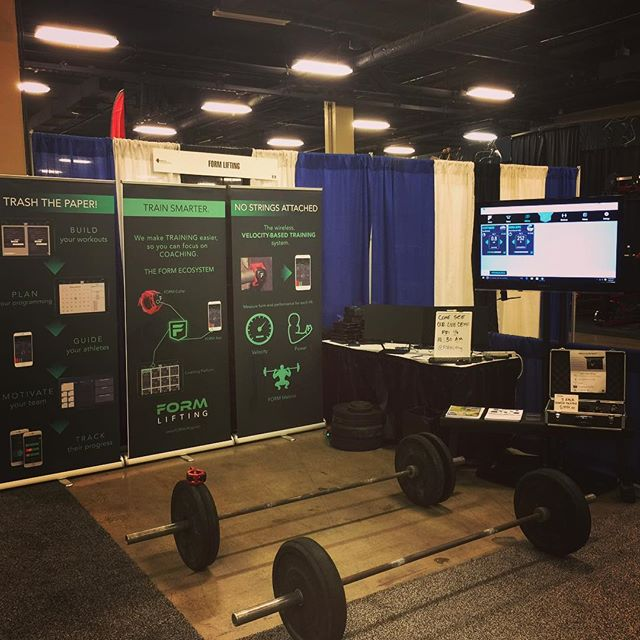 Ready to show the @nscaofficial Coaches Conference how to #trainsmarter. Come by our both and lift with us for the next three days! #FORMLifting #nsca #opryland #vbt
