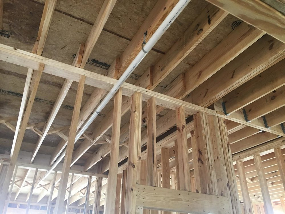 Cross Bracing and Double Joist Installed