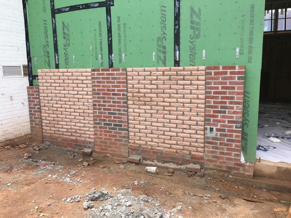 Recessed Brick Installed