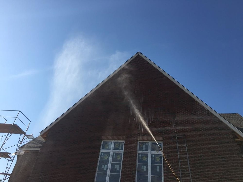 Fascia Board and Brick Cleaning