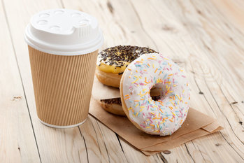 We will keep you supplied with ample coffee and donuts.