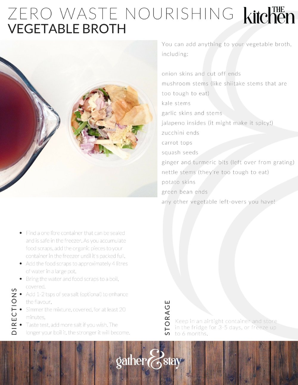 Vegetable Broth - The Kitchen