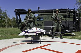 Police Shadowhawk drone. Vanguard Defense Industries