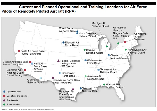 US Drone War Technology KnowDrones - Map of us air force installations