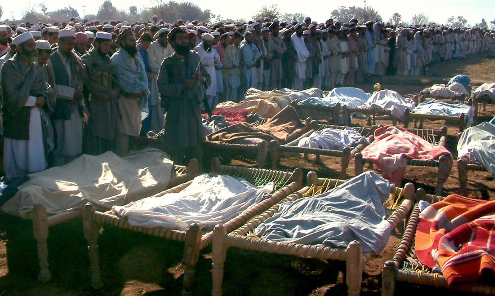 This show mourners honoring victims of a U.S. drone attack in Pakistan. Credit- Bureau of Investigative Journalism
