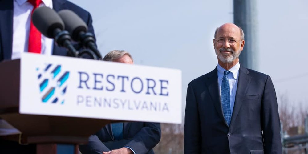 Focus of new drone war protest - Pennsylvania Governor Tom Wolf. Credit –Wolf website.