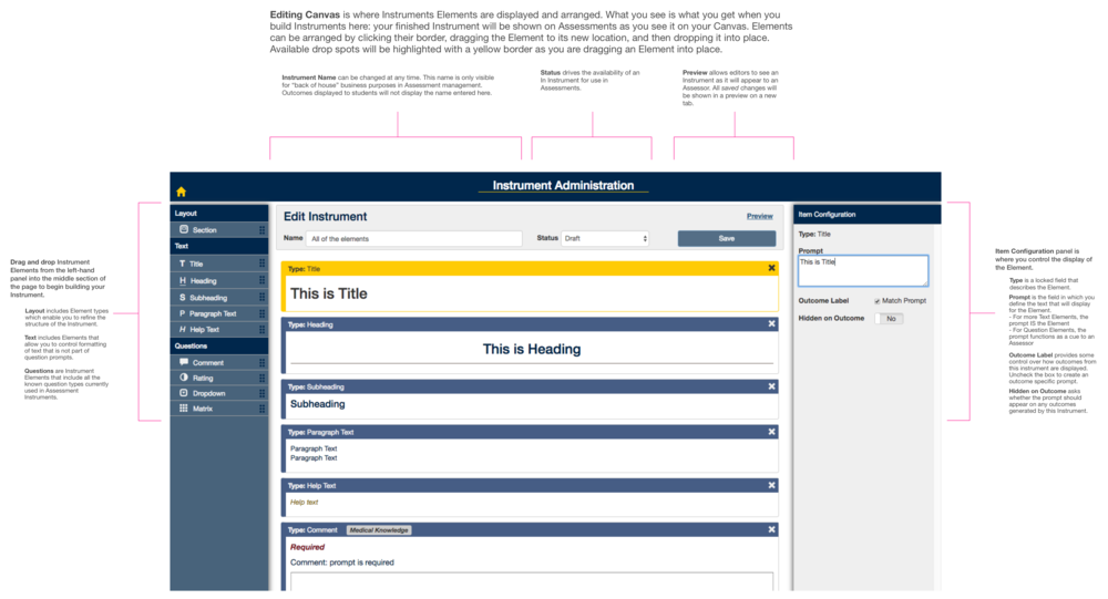 Documenting how the interface works for user on-boarding (2/2)