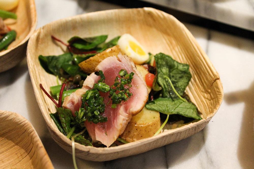 Mini version of their Nicoise Salad with the Ahi tuna!