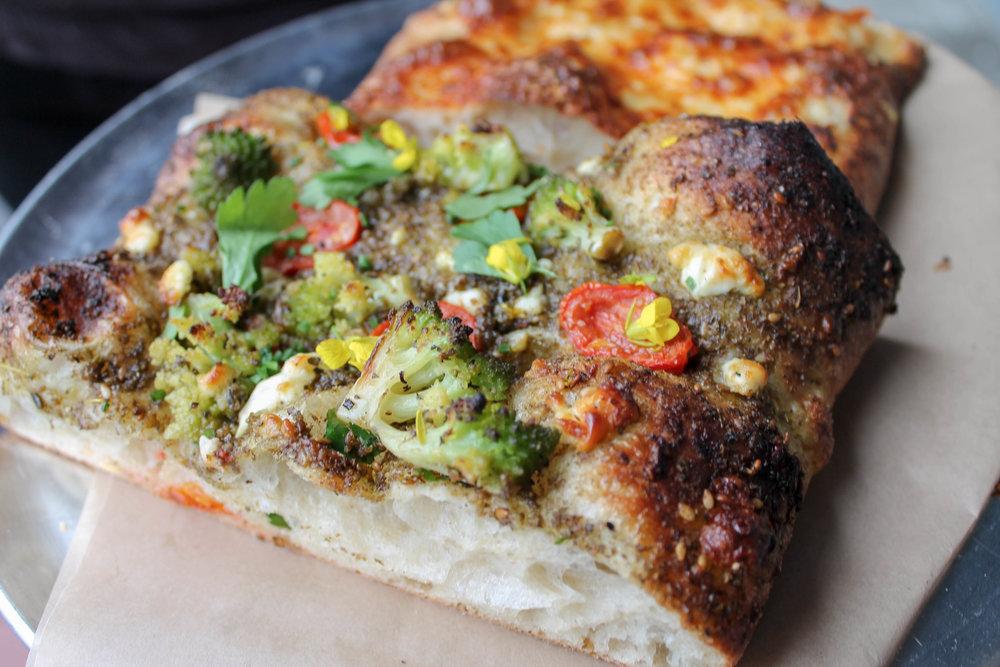 Yum, close-up of that flatbread!