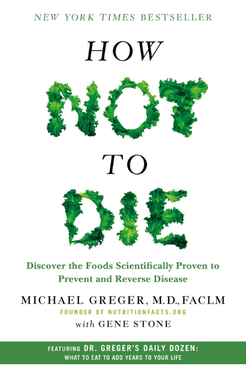 Dad gave us all a copy of this book… - Vegan = not dying. Or something like that.