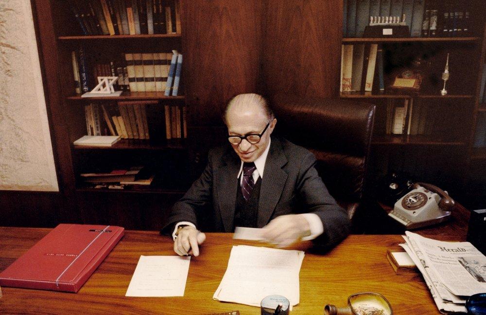 Menachem Begin, Prime Minister, October 1978