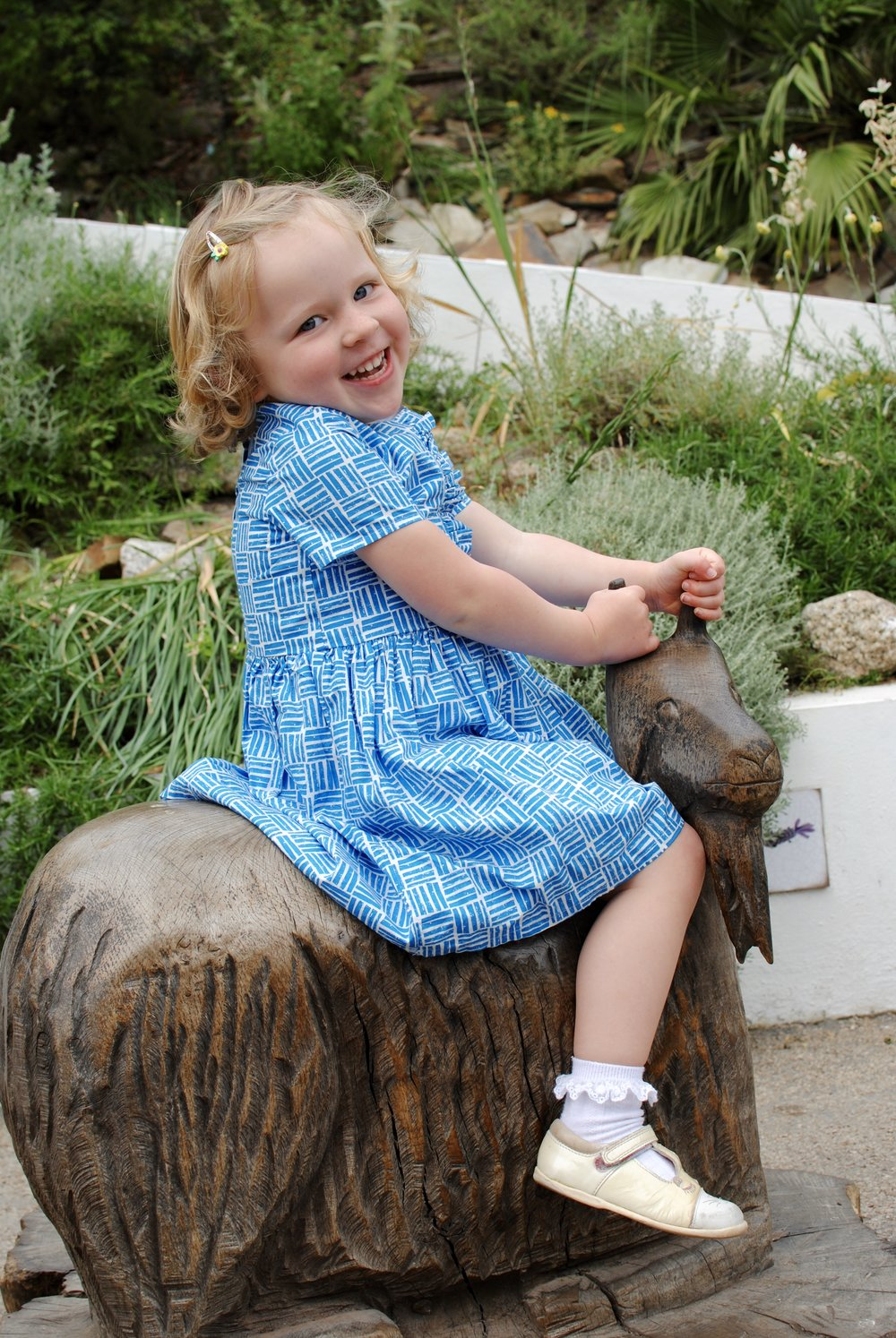 Three Billy Goats Gruff  is the latest favourite so Sienna was so excited to find this sculpture!