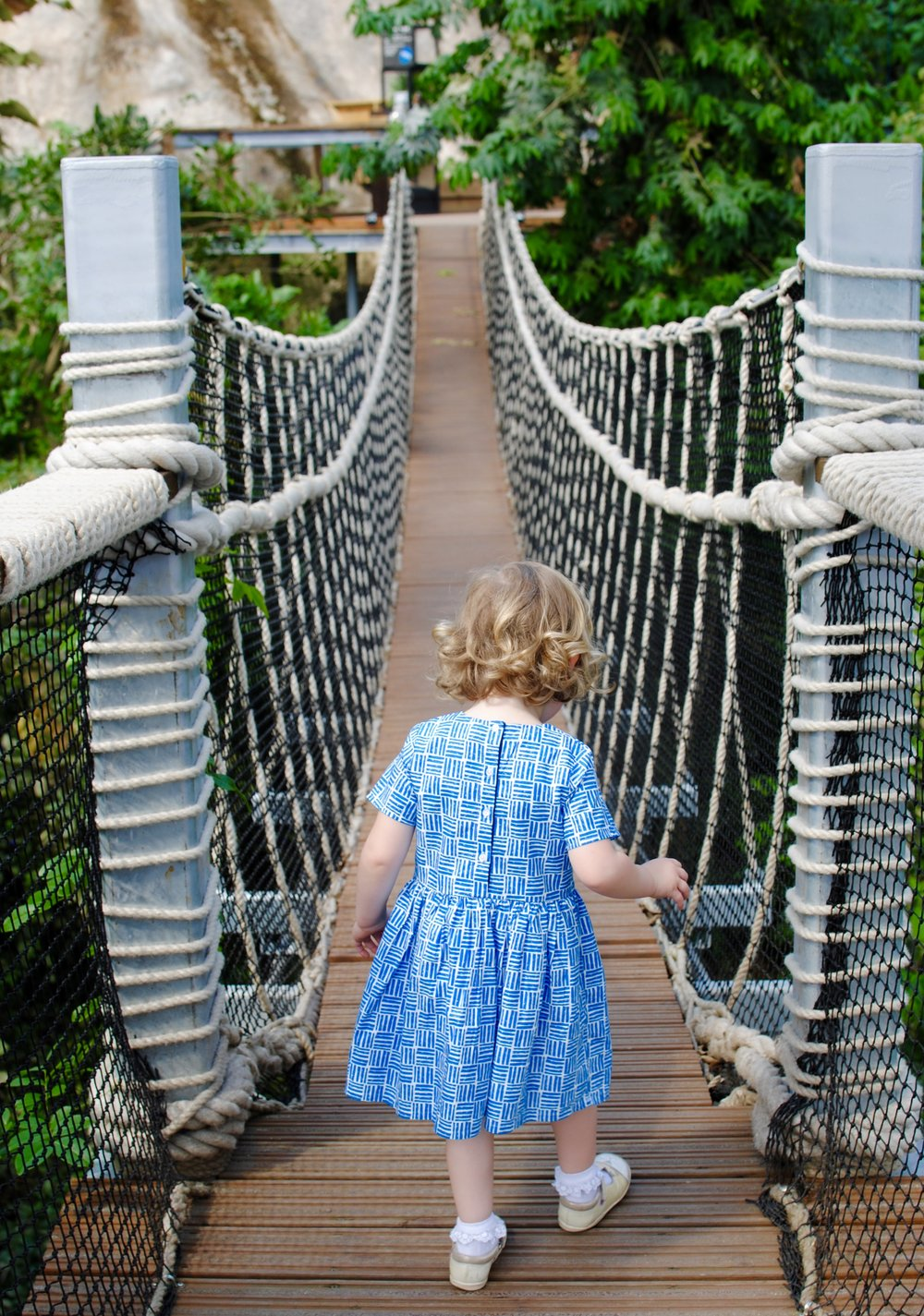 My little monkey had great fun bouncing over the Canopy Rope Bridge.