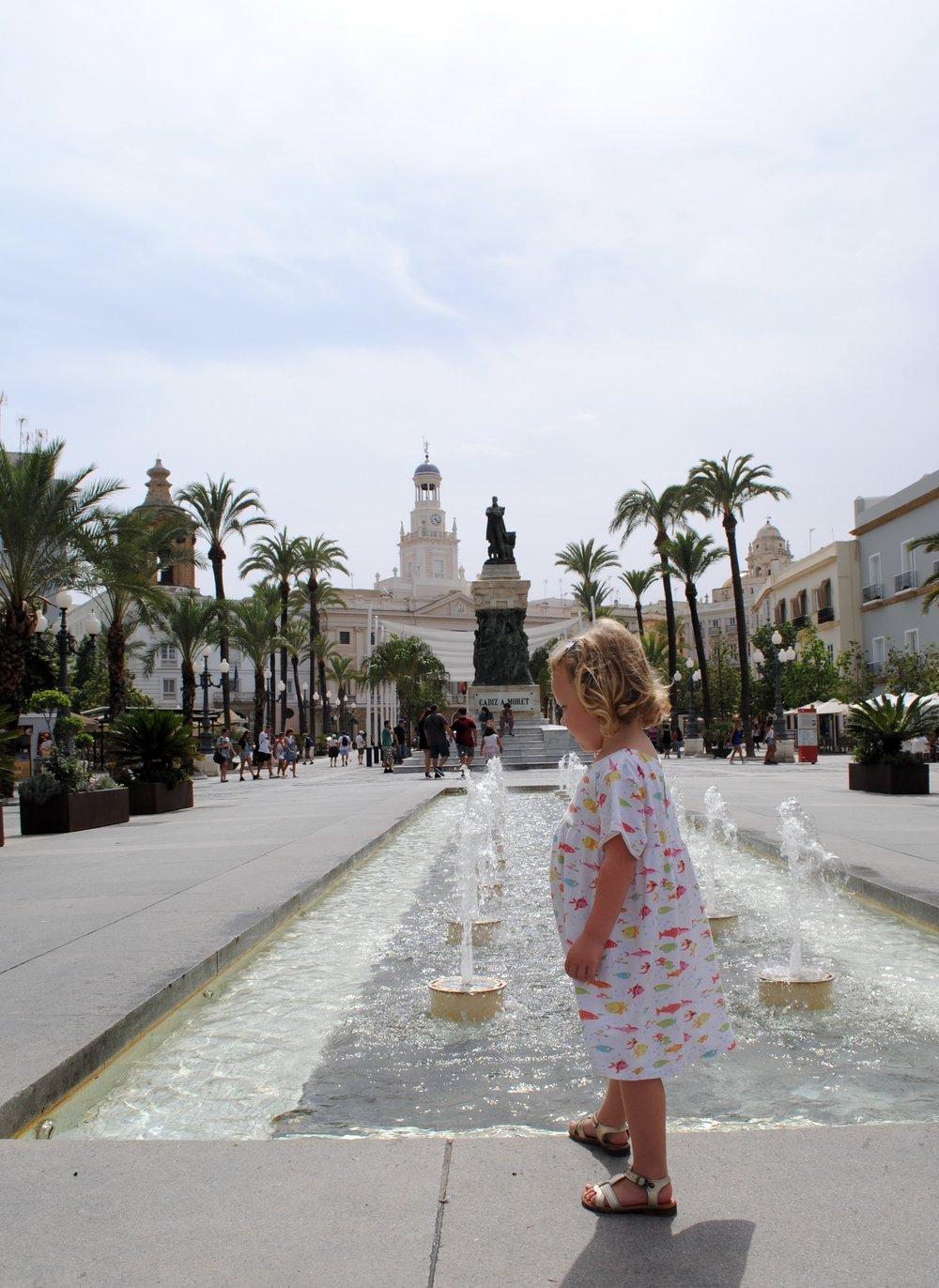 The beautiful city centre of Cádiz.