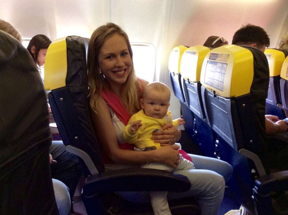 Sienna's first flight and second trip abroad at 6-months-old to Valencia, Spain. And I was 24!
