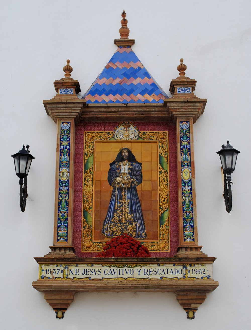 Beautiful ceramics in the centre of Cádiz. It doesn't matter what your faith is, you just need to have some!