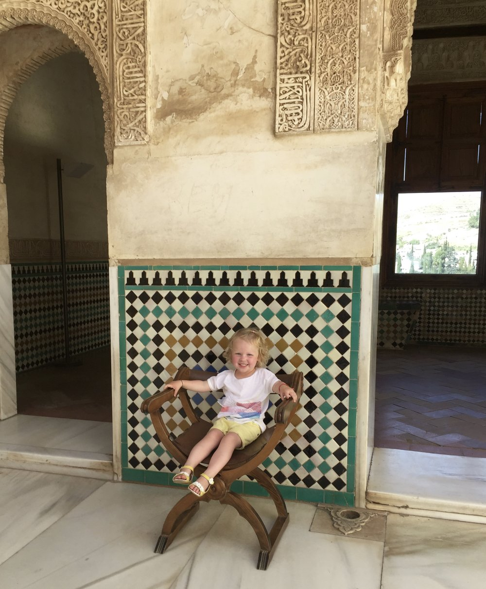 We struggled up to the Alhambra in over 40 degrees heat but we made it, and with cheeky grins on our faces too!