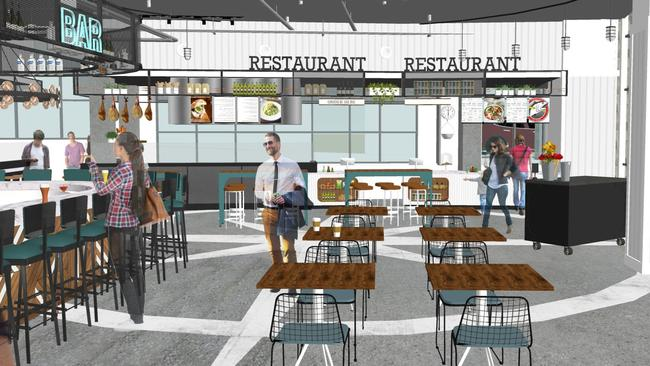 Concept Rendering of Little Italy Food Hall (Courtesy of Grit & Grain Collective)