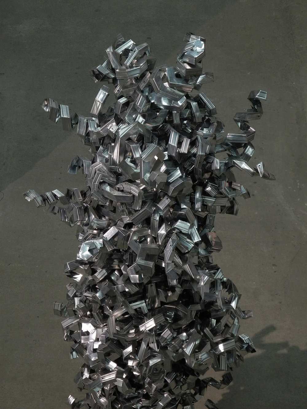 Smoke as a tragic image, as a sign, which can be seen from afar. After observing the smoke of Maidan during the protests of 2014 (in Kyiv), I feel the obligations to put iron monuments to it.    Smoke monuments   2014–2016. Metal. Dimensions variable