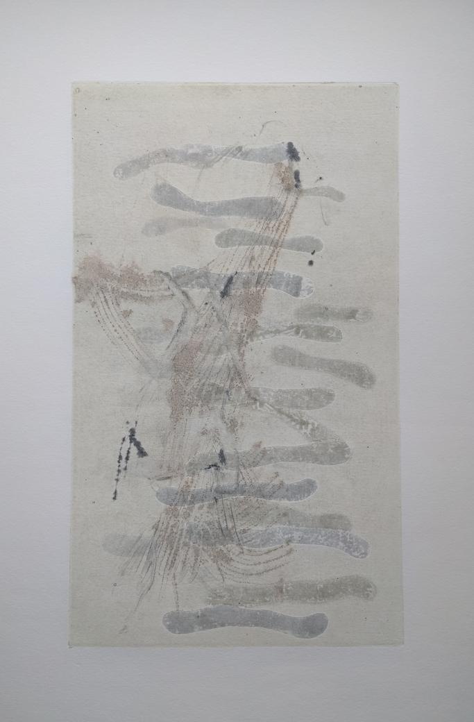 "smereka - 22 x 15"" - bone sticks - $400"