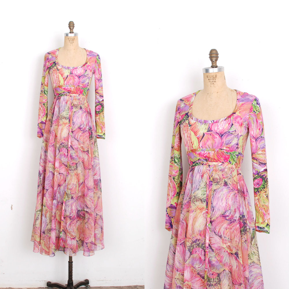 This Don Luis de Espana dress sold to the wardrobe department of a film set in the '70s!
