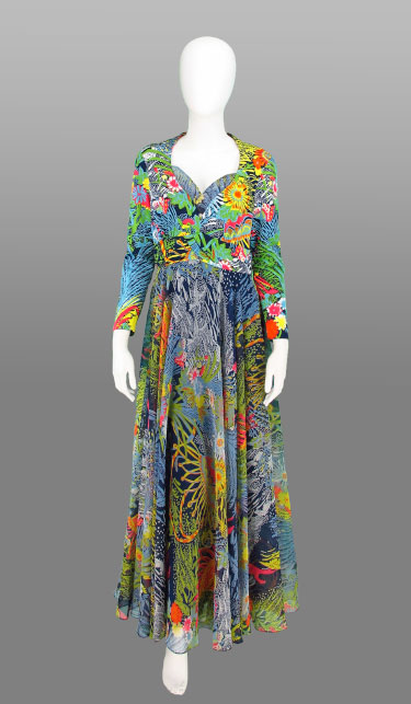 This amazing underwater print dress is from  Palm Beach Vintage!