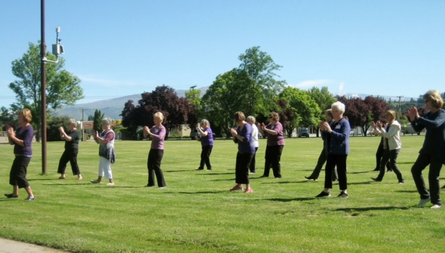- Tai Chi in Pioneer Park.