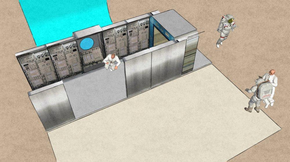 Sketchup export of the modular space station.