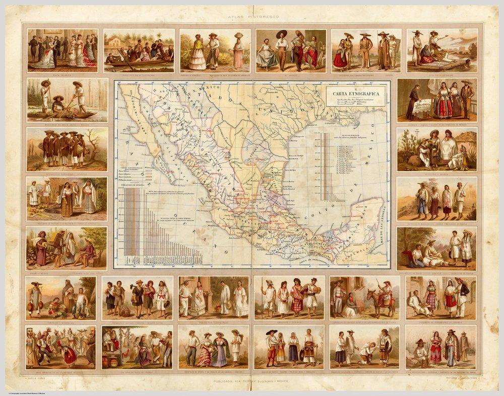 Carta Etnografica of 1885 by Antonio Garcia Cubas. David Rumsey Historical Map Collection