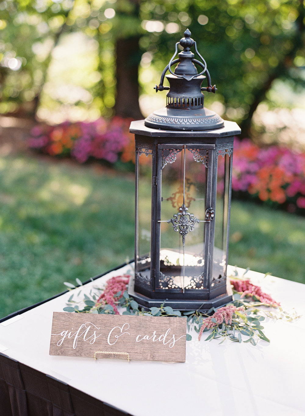 Metal, Black, Card Holder Lantern