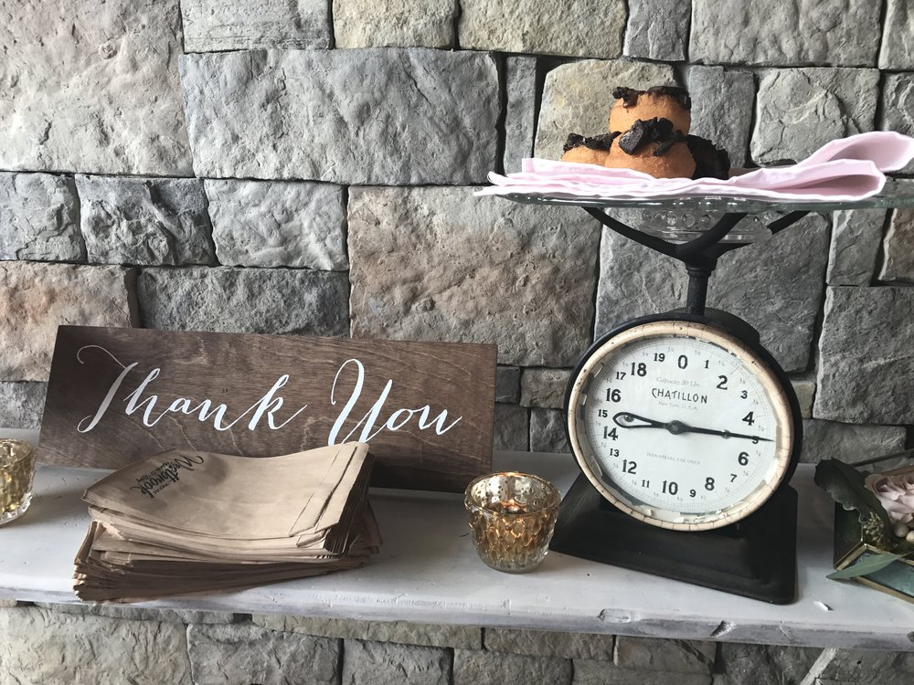 """Thank You"" sign & Antique Scale"