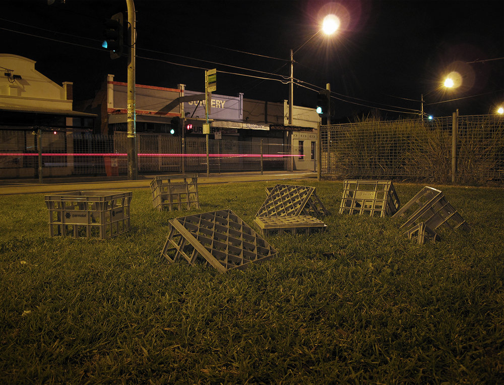 Sinking Crates // Collaboration with Claire Tracy // Melbourne // 2010