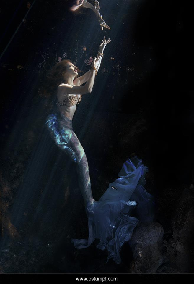 Brenda Stumpf Virginia Hankins Blue Mermaid Underwater.jpg