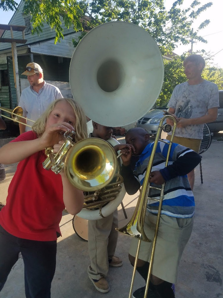 Kids Brass Music Jam Classes Week 4 Art Klub Nola