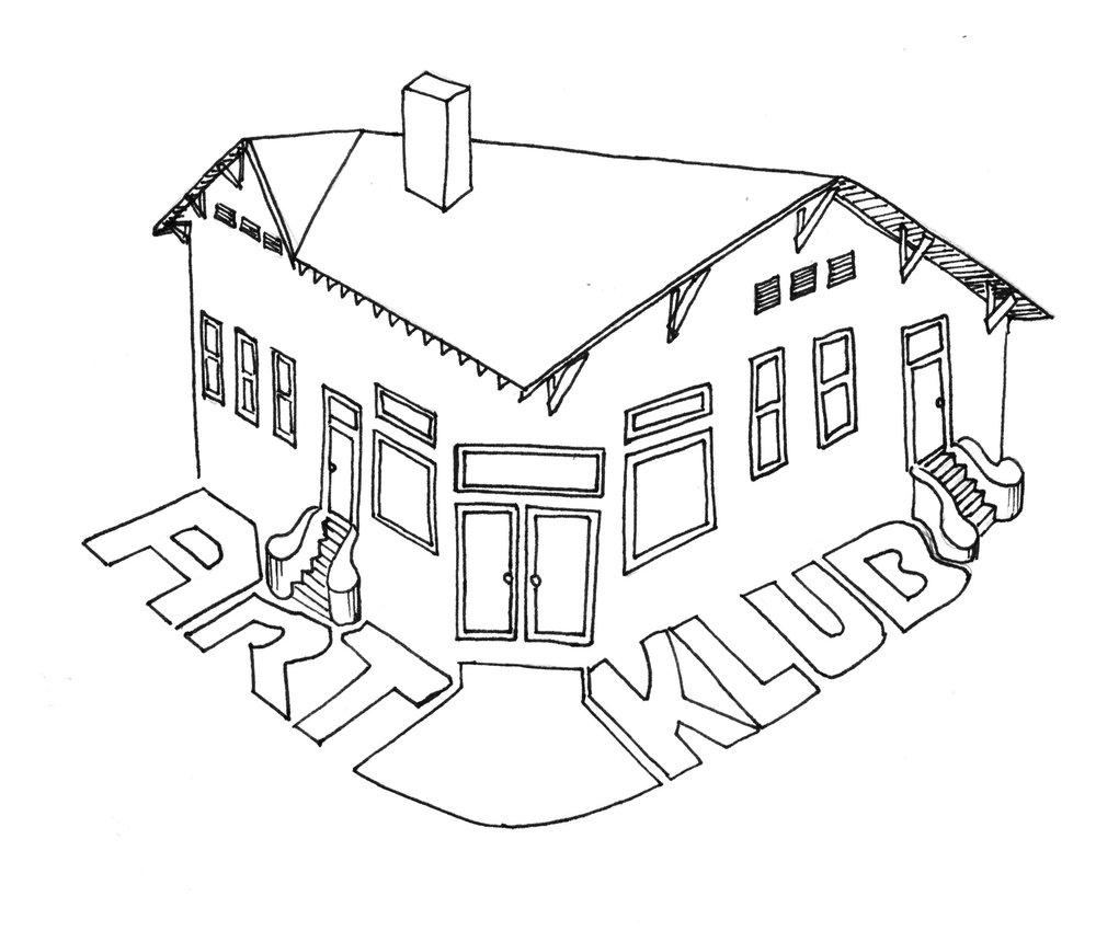 Art Klub Logo - Stencil